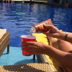 GoPong Hidden Sunscreen Alcohol Flask