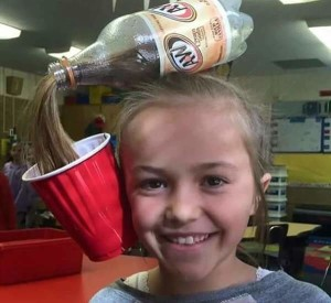 Creative hairstyle - Soda Bottle