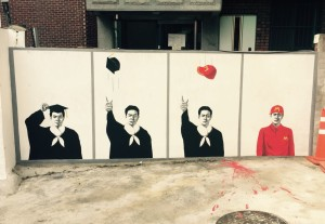 Graffiti about the sad reality of college degree