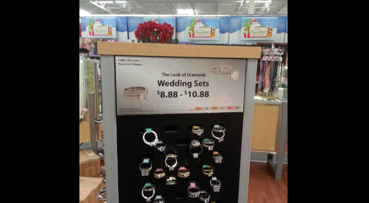 Wedding Set - This product is not real diamond. No returns!