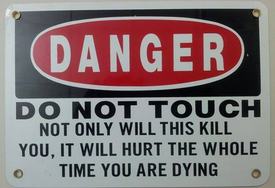 Honest Warning sign