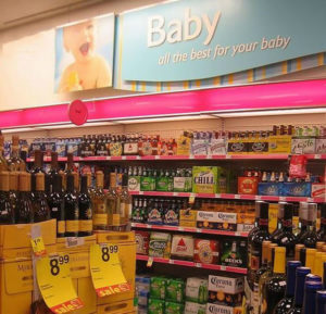 Questionable baby section in supermarket