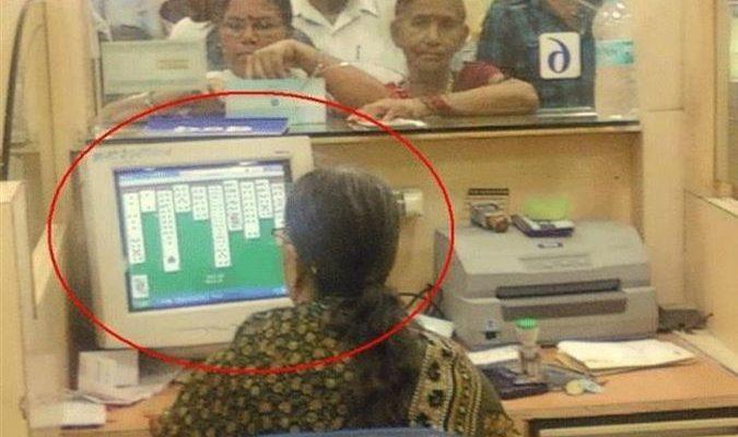 A hard working employee