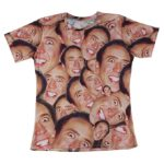 Laugh Nicolas Cage Face T-shirt