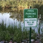 Frog Parking Only